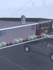 A kitchen addition to the rear of the Parkway Diner