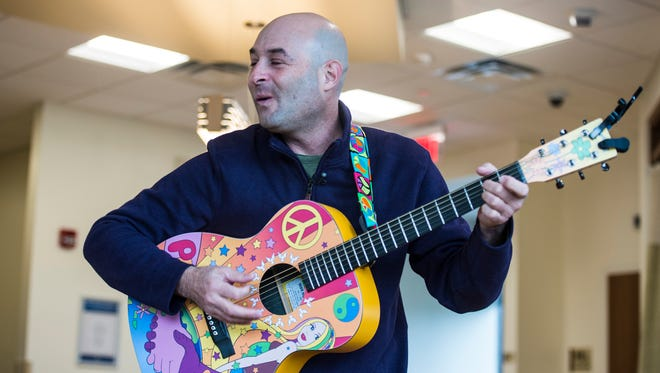 Charlie Lustman, a singer and songwriter who was diagnosed with bone cancer in his upper jaw, travels the across the United States singing his songs to other people fighting cancer. On Tuesday, Dec. 13, 2016, his Musical HOPE Campaign Tour stopped at  WellSpan's Sechler Family Cancer Center in North Cornwall Township.
