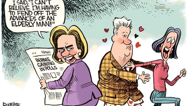 Bernie Advances on Hillary