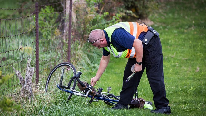 A bicyclist was killed after being struck by a car on W. Jackson Street near County Road 725-W, south of Mcgalliard Road shortly after 3 p.m. Wednesday.  According to police a man driving a red Prius was traveling west on Jackson Street when he struck a cyclist who was also headed west. The victim of the crash was pronounced dead at the scene according to Deputy Coroner James Clevenger. The incident is still under investigation.