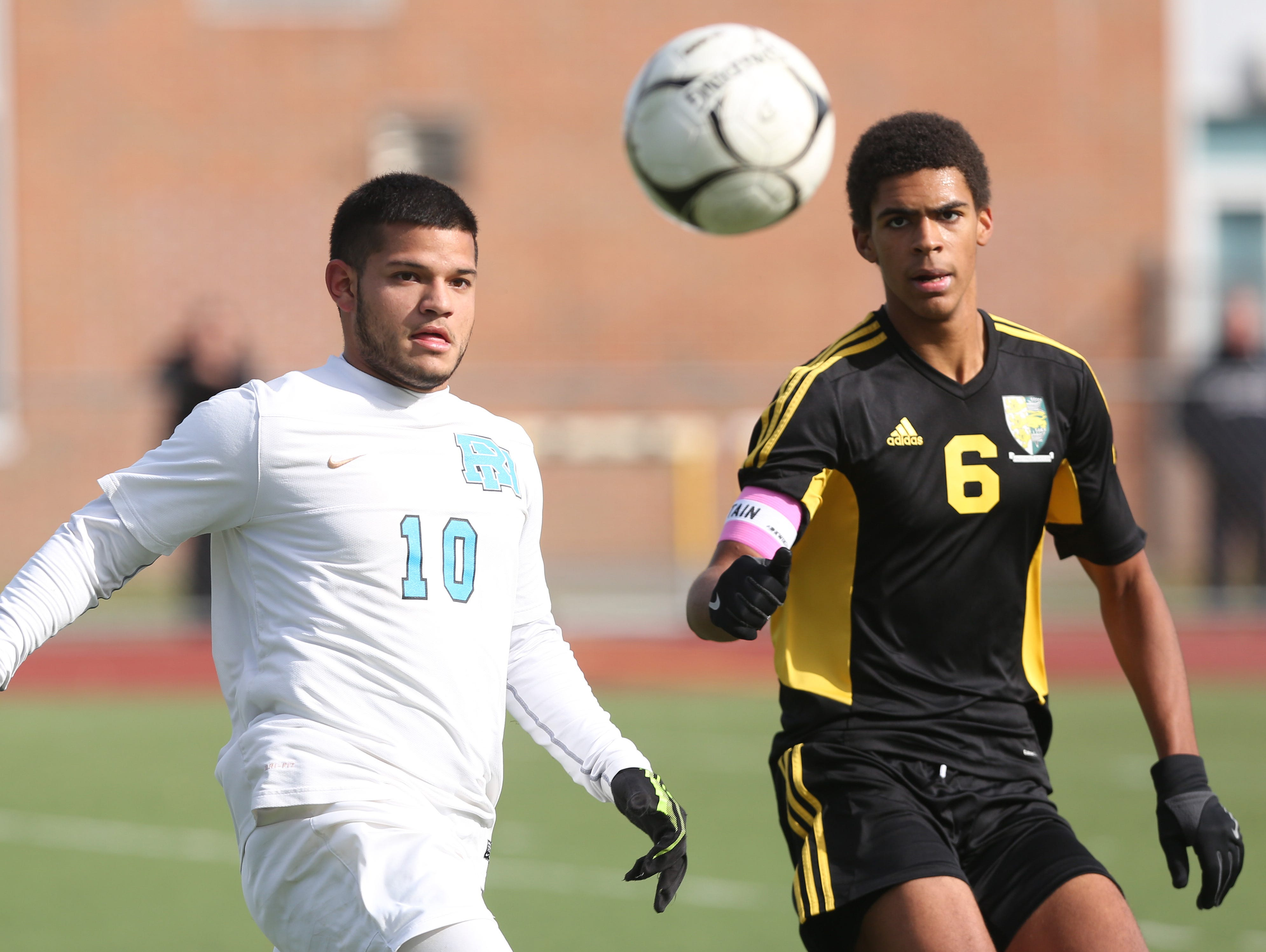 Hastings defeated Rye Neck 1-0 in the boys soccer Section 1 Class B championship game at Lakeland High School in Shrub Oak High School Oct. 29, 2016.