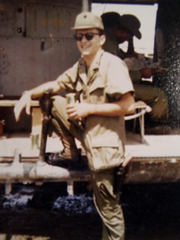 "Col. Richard ""Bill"" Richards during the Vietnam War."