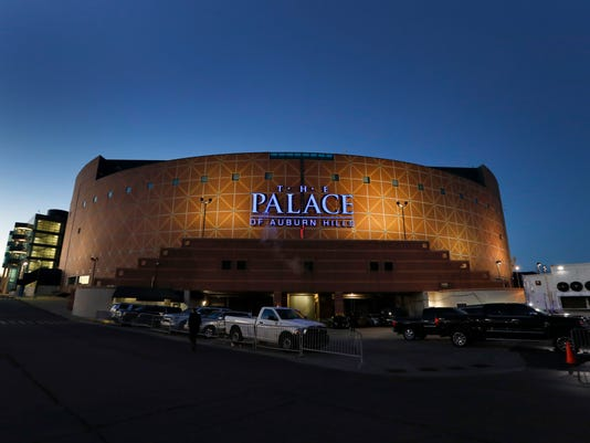 FILE - This Nov. 21, 2016, file photo shows The Palace of Auburn Hills in Auburn Hills, Mich. Palace Sports and Entertainment confirmed its plans Thursday, Aug. 24, 2017, for The Palace of Auburn Hills, former home of the Detroit Pistons, saying a Bob Seger concert on Sept. 23 will be the arena's final event. (AP Photo/Paul Sancya, File)