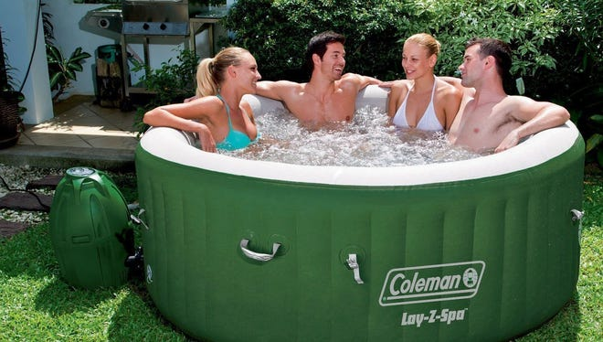 The Coleman inflatable hot tub