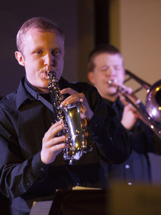 Memmbers of SUU Jazz Band in performance