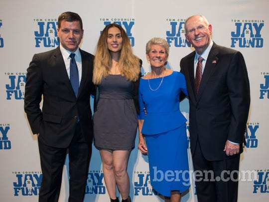 Tom Murro, Shelley Rome (Z100), Judy Coughlin and Tom Coughlin (New York Giant's Head Coach) (Photo by Jeremy Smith)