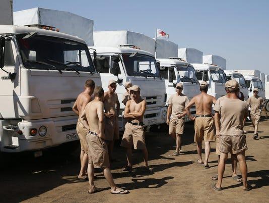 Russia aid convoy for Ukrain