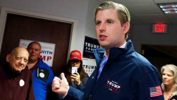 Eric Trump, son of President Donald Trump, once said he worried his direct fundraising for St. Jude Children's Research Hospital in Memphis could be perceived as buying access to his father.
