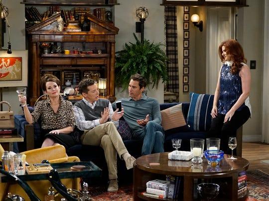 Gang's all here: Karen (Megan Mullally), Jack (Sean