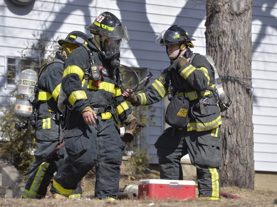 One apartment sustained fire damage and another was