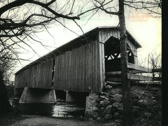Cedarburg's covered bridge offers a picturesque place