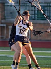 Hartland's Emily Beazley and the Eagles lost to Birmingham-Seaholm in the D1 semifinals on Wednesday.