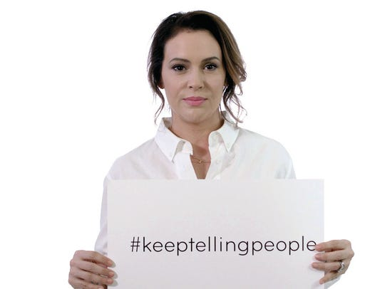 Actress Alyssa Milano also appears in the PSA.