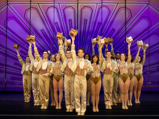 "The touring cast of ""A Chorus Line,"" which comes to"