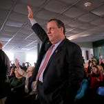 Chris Christie attends a town hall meeting at Hampton Academy in Hampton, N.H., on Feb. 7, 2016.