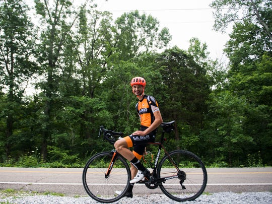 Knoxville cyclist Stephen Bassett poses for a photo