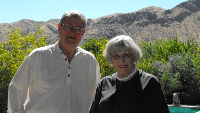 Ric and Rozene Supple at their  home in the Smoke Tree Ranch neighborhood of Palm Springs.