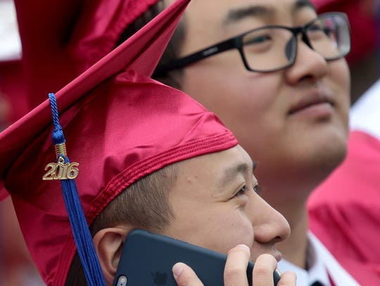 Miami University held its commencement ceremonies at