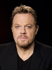 """In this photo taken Monday April 30, 2012,  English stand-up comedian and actor Eddie Izzard poses for a portrait in Los Angeles. Izzard stars as Long John Silver in the TV film """"Treasure Island,"""" airing May 5, on Syfy. (AP Photo/Richard Vogel)"""