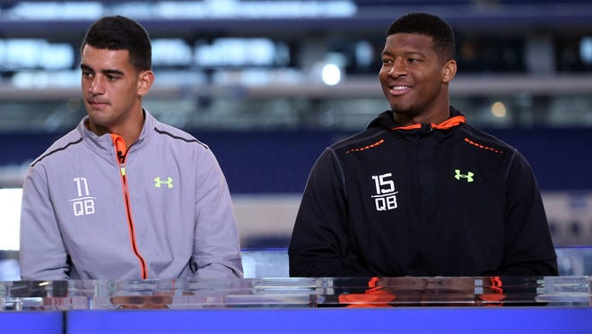 Marcus Mariota and Jameis Winston are the projected top two picks in the upcoming draft.