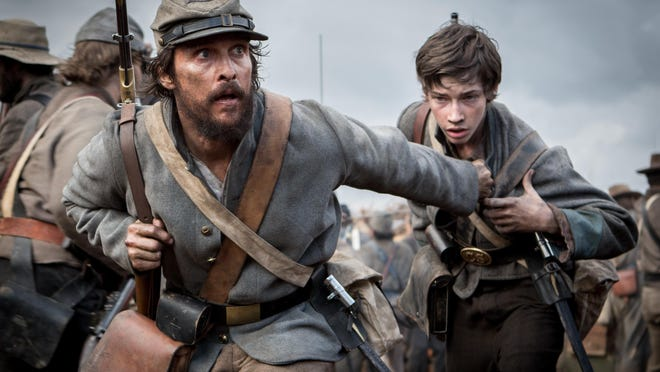 "Matthew McConaughey stars in ""Free State of Jones"" which is based on a true story."