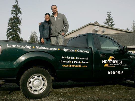 Meeshka and Colby Brand are co-owners of Northwest Construction and Landscape in Poulsbo.