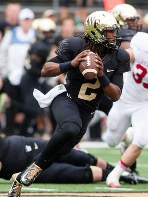 Kendall Hinton may be asked to start for Wake Forest again vs. FSU should starting quarterback John Wolford be held out due to injury.