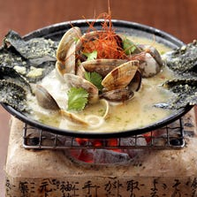 The garlic miso to ban with Asahi clams at Yasu Sushi Bistro in Phoenix on Aug. 20, 2014.