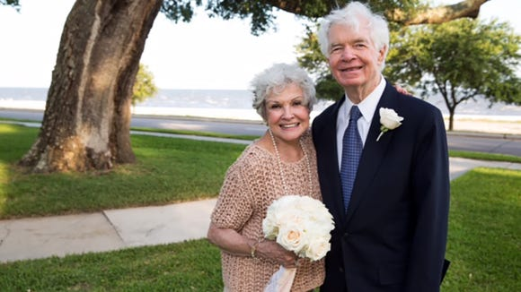 Senator Thad Cochran and Kay Webber Cochran on their wedding day in Gulfport, Mississippi, Saturday, May 23, 2015.  © 2015 James Edward Bates