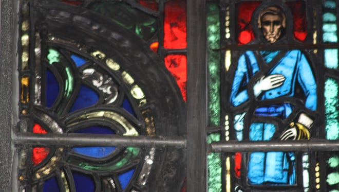 Confederate Gen. Robert E. Lee appears in a panel of stained glass in Christ Church Cathedral.
