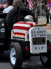 A float dedicated to those men and women who died in service of the country during the 2014 Veterans Day Parade.
