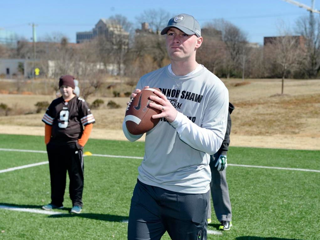 Former Gamecock Connor Shaw held his football camp at the Kroc Center Saturday, Feb. 14, 2015.