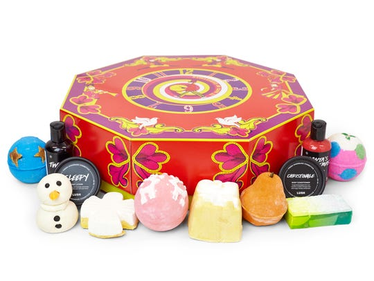 Lush presents the 12 Days of Christmas Advent Calendar,
