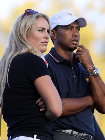 Lindsey Vonn and Tiger Woods ended their three-year