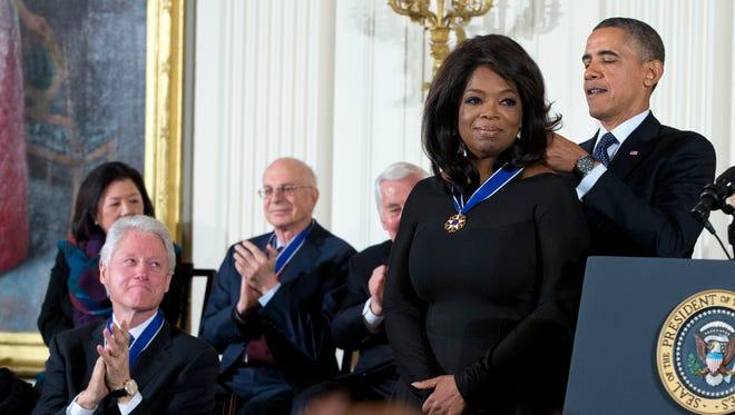 President Obama awards Oprah Winfrey the Presidential Medal of Freedom on  Wednesday.