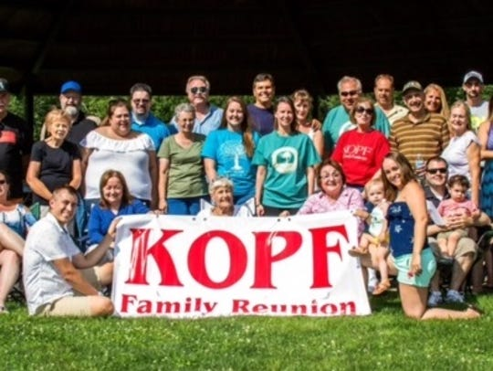 The Kopf family of Bridgewater had its reunion in July