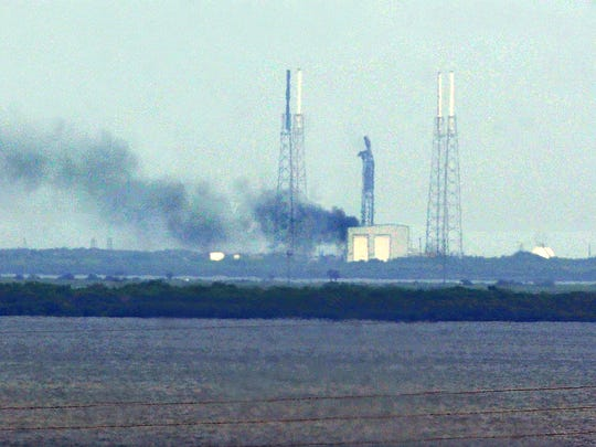 A SpaceX Falcon 9 rocket exploded on the pad Thursday