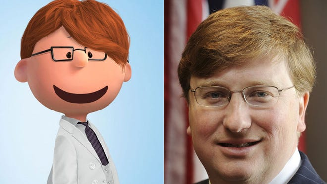 """Miss. Lt. Gov. Tate Reeves as a """"Peanuts"""" comic character"""
