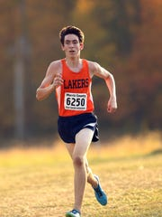 Mountain Lakes' Jared Cooper comes into the finish