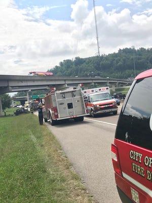 A fiery crash has shut down Interstate 75 North at the I-640 interchange.