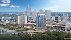 A rendering of the proposed SkyHouse project planned