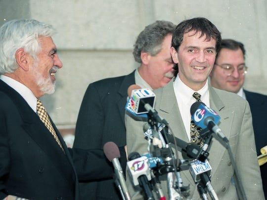 Tom Capano's defense team (left to right) Joseph Oteri,