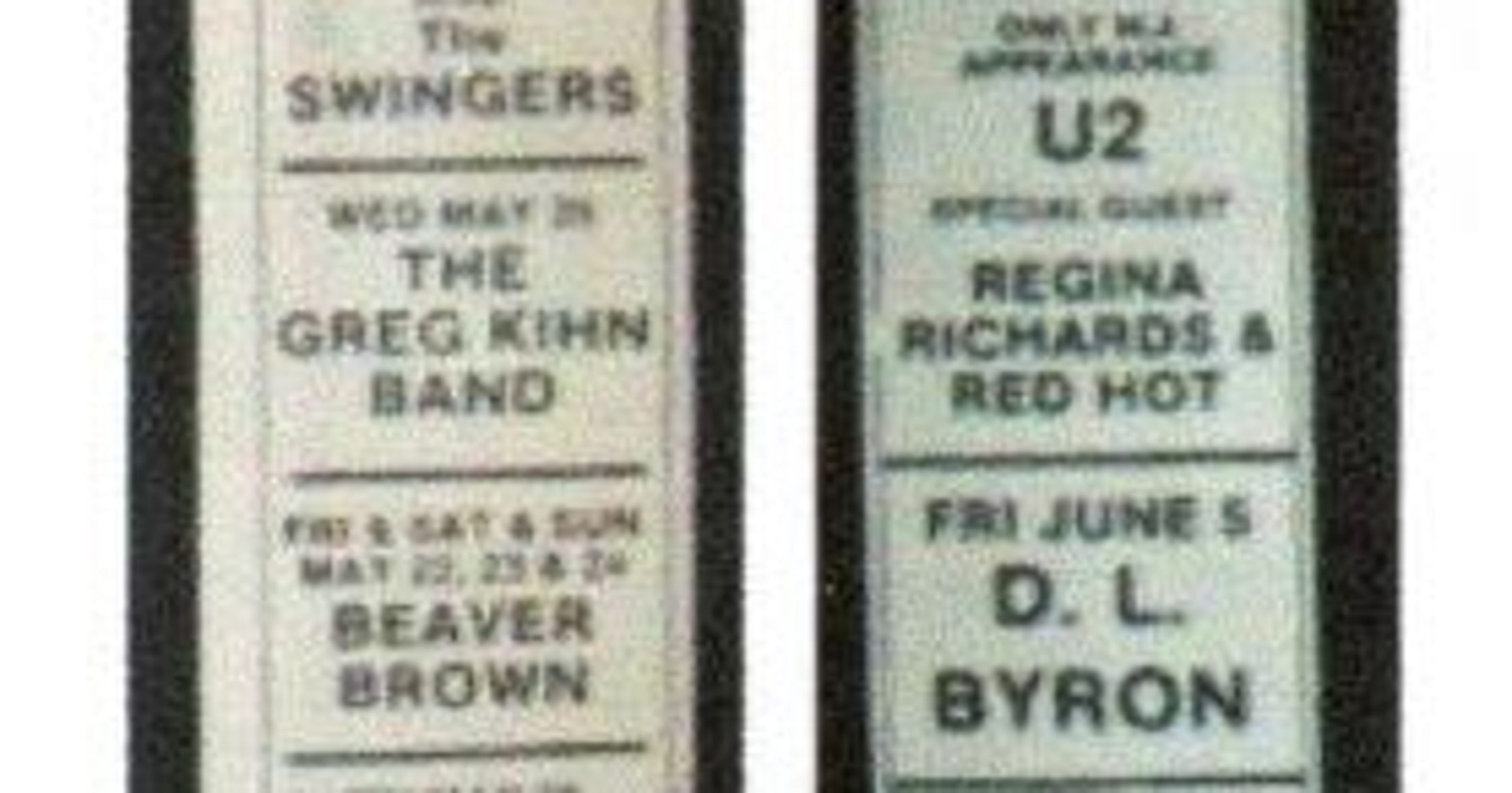 U2 played twice at this legendary Asbury Park club