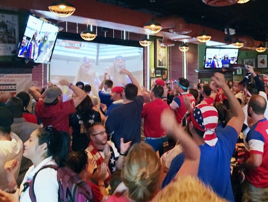 The Tilted Kilt in downtown Phoenix is a popular sports
