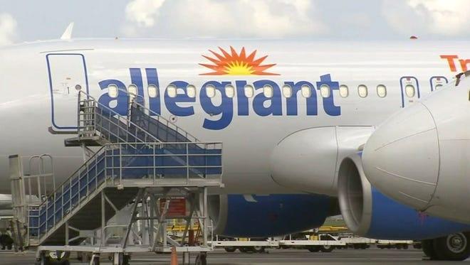 An Allegiant aircraft.