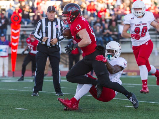 Southern Utah wide receiver Ty Rutledge (13) catches