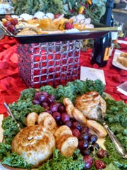 The brie and croute display at Cello's Pantry.