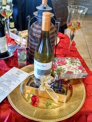 A holiday table setting at Cello's Pantry in Rancho Mirage.