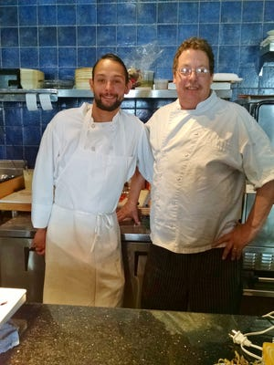 La-Rue Sous Chef Erik Aimondariz and Chef Jeff Jacobson work together to create a distinctly American cuisine.