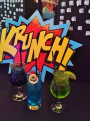 Specialty comic book-themed cocktails.